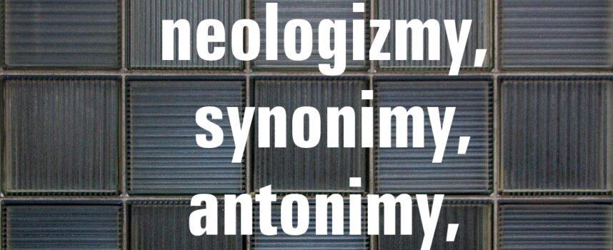 Archaizmy, neologizmy, synonimy, antonimy, homonimy