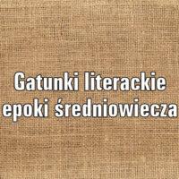 Gatunki literackie epoki średniowiecza