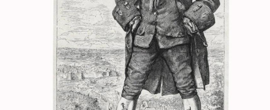 Mapa podróży bohaterów powieści XVIII w.