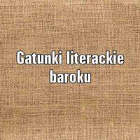 Gatunki literackie baroku