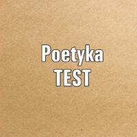 Dźwięk w wierszu TEST