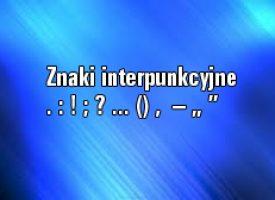 Znaki interpunkcyjne