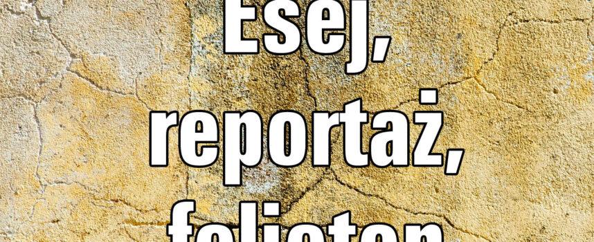 Esej, reportaż, felieton – cechy gatunkowe, funkcje, przykłady
