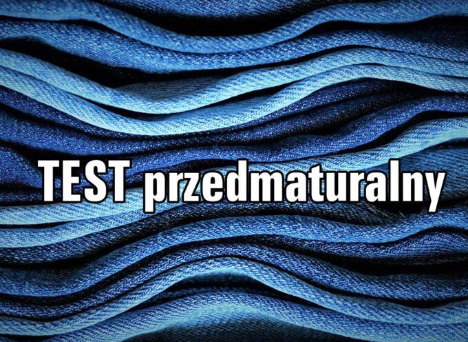 TEST przedmaturalny