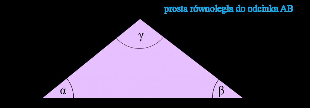 trójkąt dowód