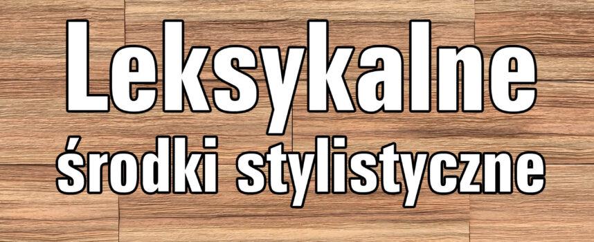 Leksykalne isłowotwórcze środki stylistyczne