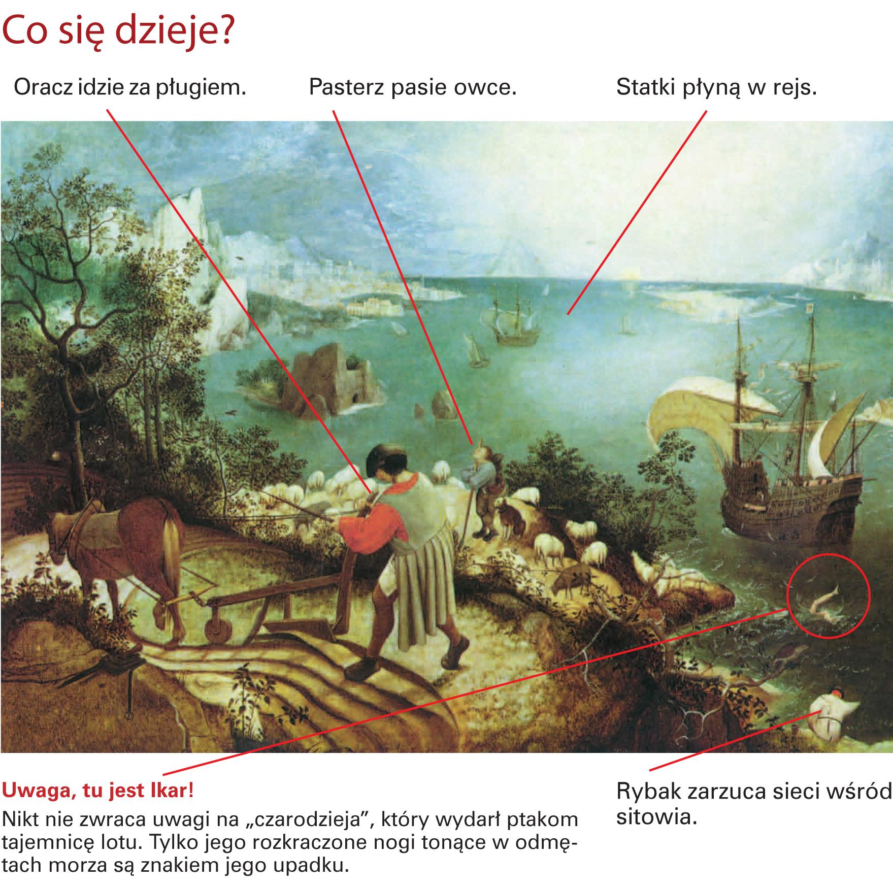 Pieter Bruegel Upadek Ikara Aleklasa