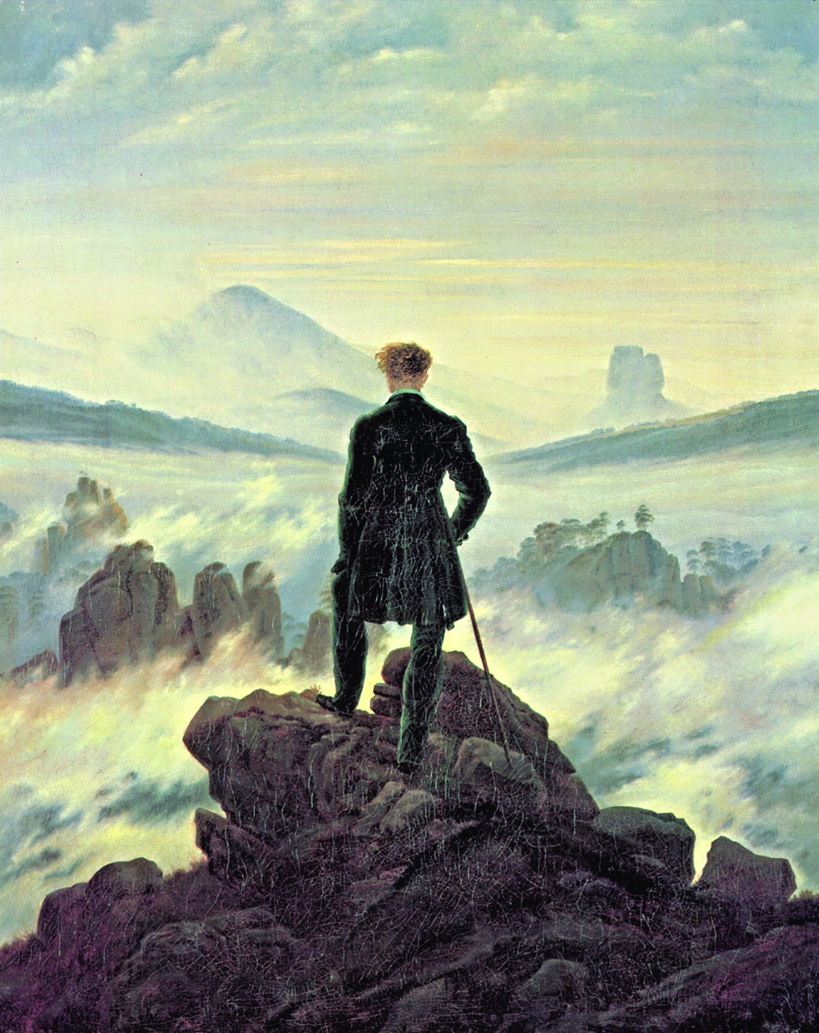 Podróżnik Po Morzu Chmur Caspar David Friedrich Aleklasa