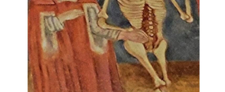 Podaj przykład literackiej realizacji tematu danse macabre w polskim średniowieczu