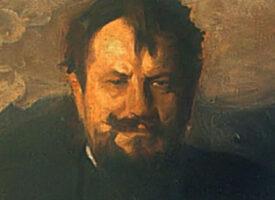 Jan Kasprowicz – Krzak dzikiej róży w ciemnych smreczynach